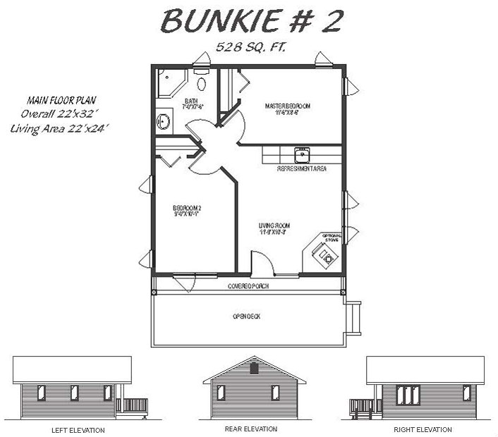 2 bedroom bunkie plans home plans ideas for Bunkie floor plans